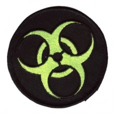 BioHazard patch green on blk