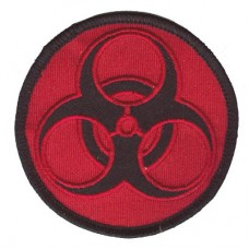 BioHazard patch blk on red