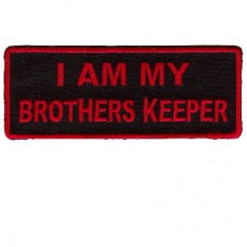 I am my Brothers Keeper Red on black patch