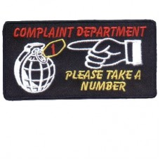 Complaint Department patch