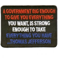 Any Government Big Enough patch