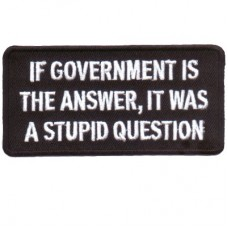 If Government is Answer, Stupid Question