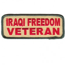 Iraqi Freedom Vet Rect. Sm patch