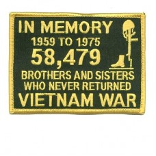 In Memory of the 58479 Viet Nam Gold Patch