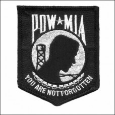 POW MIA You are not Forgotten Sm Blk Patch
