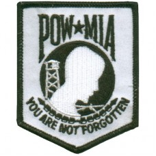 POW MIA You are not Forgotten Sm White/Blk Patch