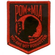 POW MIA You are not Forgotten Sm Red Patch