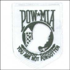 POW MIA You are not Forgotten Sm Wht Patch