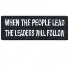 When the People Lead the Leaders will Follow