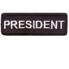 Black President patch