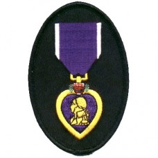 Purple Heart oval patch