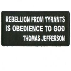 Rebellion from Tyrants Thomas Jefferson