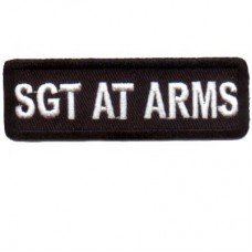 Black SGT AT ARMS patch