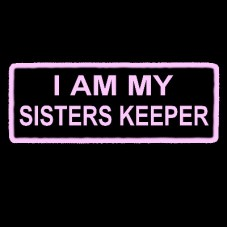 I am my Sisters Keeper light pink patch