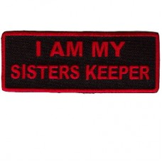 I am my Sisters Keeper red patch