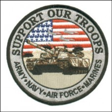 Hero Support Our Troops Tank Sm Patch