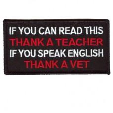 Thank a Teacher - Thank a Vet patch