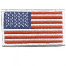 US Flag White Patch