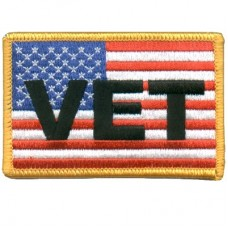 US Flag with Vet Sm