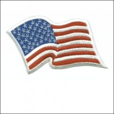US Flag White Waving Patch