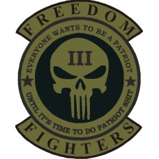 FREEDOM FIGHTERS 15 inch back patch