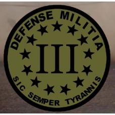 Defense Milita  3.5 inch round