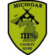 Michigan County and  Zone Patch 3 inch by 4 inch