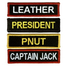 Custom 5 Inch Name patches