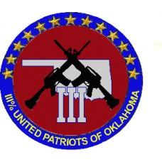 Oklahoma III% United Patriots Decals 3 inch round