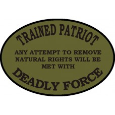 Deadly Force 3.5 inch oval
