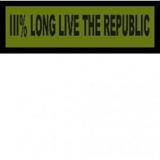 Custom Long Live The Republic
