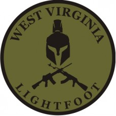 West Virginia Lightfoot 3.5 inch patch