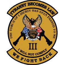 The Torch Has Been Passed-We Fight Back Decal 6 inch