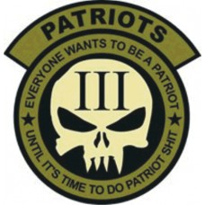 Patriot 14 inch back patch
