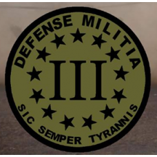 Defense Milita  12 inch round Back Patch