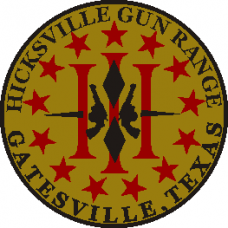Hicksville Gun Range Shoulder Patch 3.5 inch round