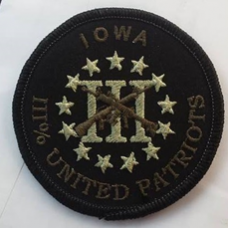 III United Patriots Iowa 3 Inch Round Subdued