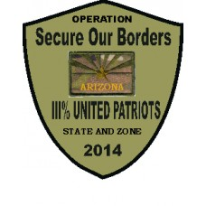 III United Patriots Border OP Arizona Patch 2014-Custom Patch
