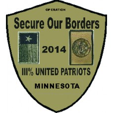 III United Patriots Border Patch 2014-Custom Patch