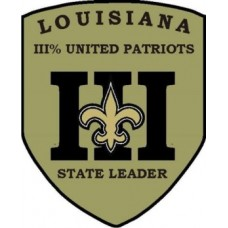III UNITED PATRIOTS Louisiana Zone Patch 3 inch by 4 inch