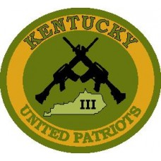 III Kentucky State 3 Inch Round Subdued