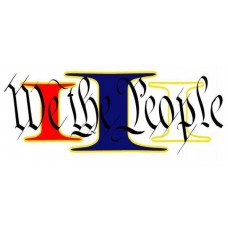 Louisiana We The People Decal 2.75x5""