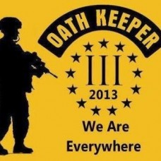 Oath Keeper-3%-Three Percent Decal