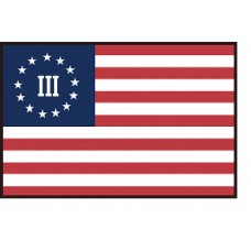 Patriot Warriors Flag Patch 3x2 inch
