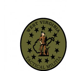 West Virginia Tactical Militia 3.5 x 4 Oval Patch