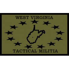 West Virginia Tactical Militia Flag Patch