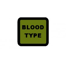 Custom Blood Type and Rank Cube Patch 1.5 by 1.5 inches