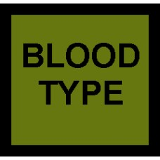 Tactical Subdued Blood Type Patch