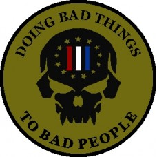 Doing Bad Things 3.5 inch patch
