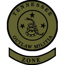 Tennessee Outlaw Militia Shoulder Patch and Rocker